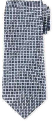 Emporio Armani Neat Small Square Silk Tie, Gray