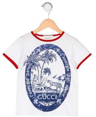 Gucci Boys' Printed Short Sleeve Shirt