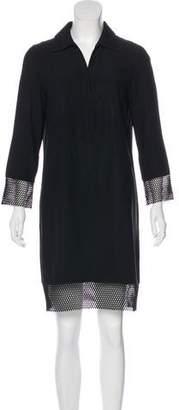 Akris Punto Macramé-Trimmed Mini Dress