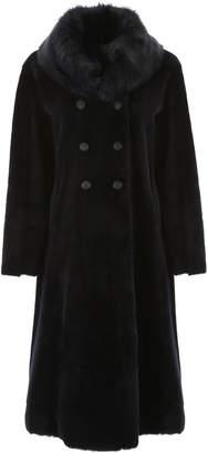 Giorgio Armani Long Reversible Shearling Coat