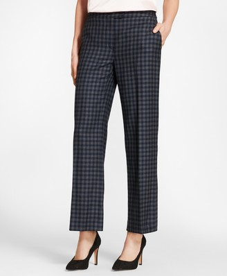 Brooks Brothers Gingham Wool Twill Pants