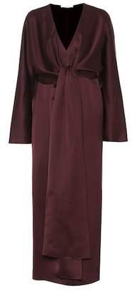 The Row Clementine satin midi dress