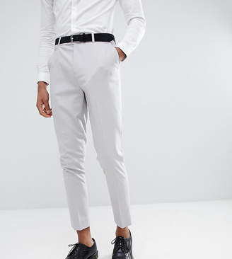 Asos DESIGN Tall tapered suit pants in putty gray