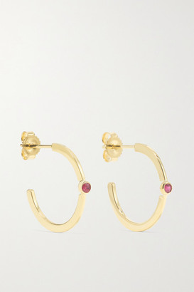 Jennifer Meyer 18-karat Gold Ruby Hoop Earrings