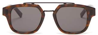 Christian Dior Sunglasses - Diorfraction1 Square Acetate And Metal Sunglasses - Mens - Brown