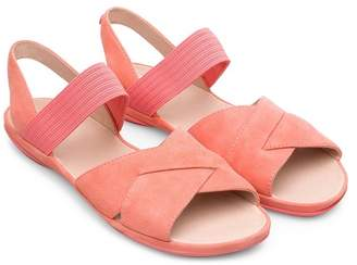 Camper Right Nina Flat Cross Strap Sandal