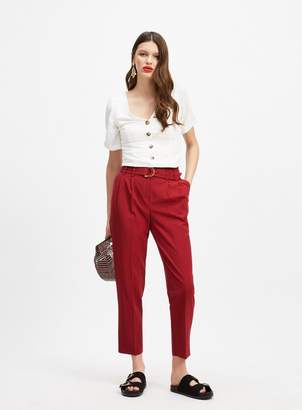7398669bafde Burgundy Slim Leg Trousers Women - ShopStyle UK