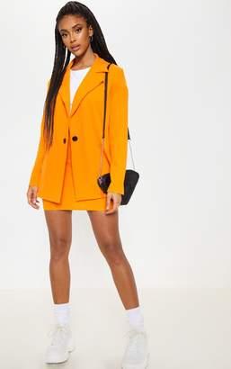 PrettyLittleThing Orange Oversized Blazer