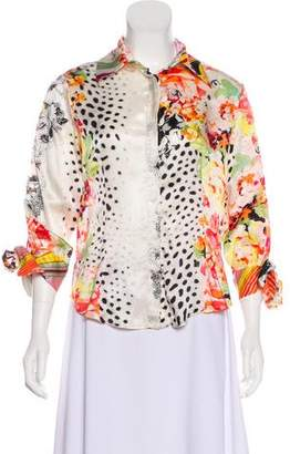 Just Cavalli Printed Silk Blouse