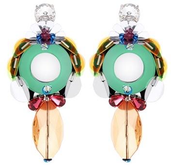 Miu MiuMiu Miu Embellished Clip-on Earrings