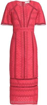 BA&SH Broderie Anglaise Cotton Midi Dress