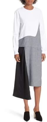 Clu Colorblock Asymmetric Dress