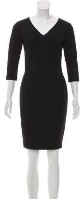 Narciso Rodriguez Rib-Knit Mini Dress