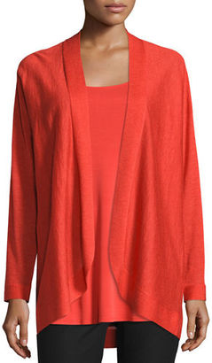 Eileen Fisher Fine Tencel® Alpaca Oval Cardigan, Poppy, Petite $238 thestylecure.com