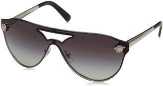 Versace VE2161 Sunglasses 10008G-42 - Silver Frame, Gray Gradient