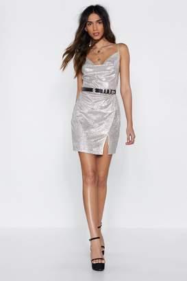 Nasty Gal Cowl Do You Know Glitter Dress