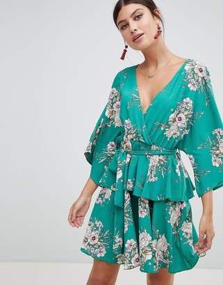 PrettyLittleThing Kimono Sleeve Mini Dress