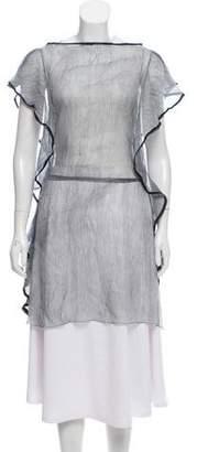 Galliano Silk Sheer Tunic