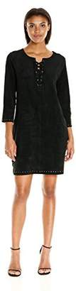 Velvet by Graham & Spencer Women's Faux Suede Dress with Grommets