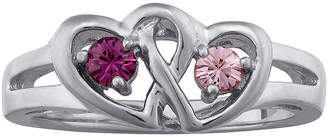 FINE JEWELRY Personalized Sterling Silver Couples Heart Ring