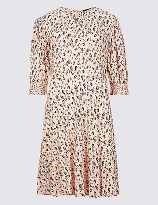 Limited Edition Animal Print Half Sleeve Tea Dress