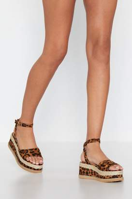 Nasty Gal What Goes Up Leopard Platform Sandal