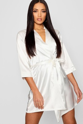 boohoo Satin Kimono Robe