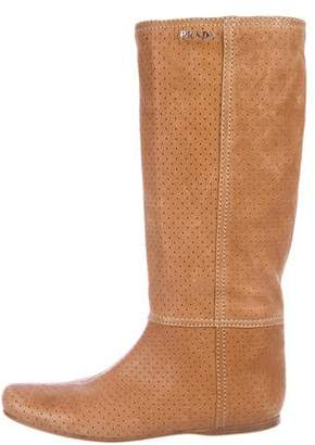 Prada Sport Perforated Mid-Calf Boots