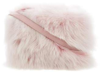 Handbag Leather-Trim Crossbody Bag Pink Handbag Leather-Trim Crossbody Bag
