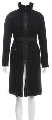 Prada Sport Wool-Mohair Knee-Length Coat