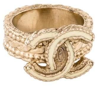 Chanel Embellished CC Ring
