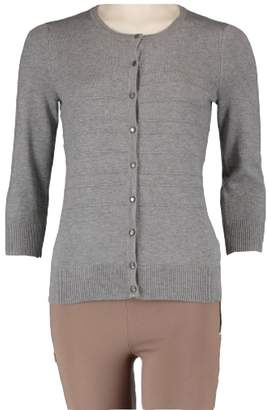 Cable & Gauge Ladies' Button-Front Cardigan Heather XXL