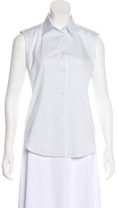 Loro Piana Sleeveless Button-Up Top