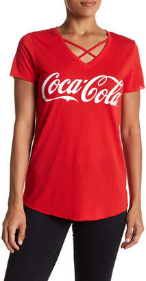 Freeze Coca-Cola Crisscross V-Neck Graphic Tee