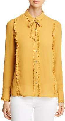 Scotch & Soda Tie-Neck Ruffle Blouse