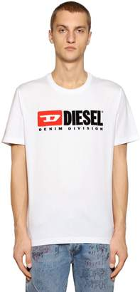 Diesel 90's Logo Embroidered Jersey T-Shirt