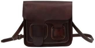 EAZO - Handmade Leather Satchel Bag In Dark Brown