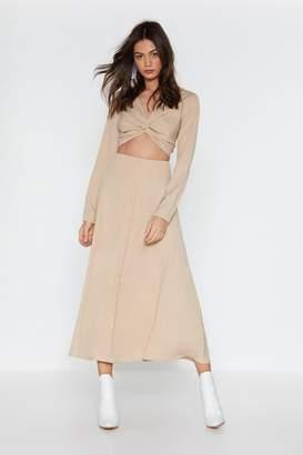 Nasty Gal Do the Twist Button-Down Midi Dress