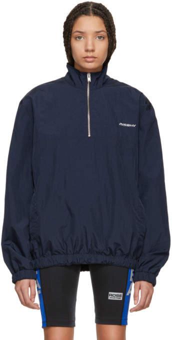 Navy Half-zip Sport Track Jacket