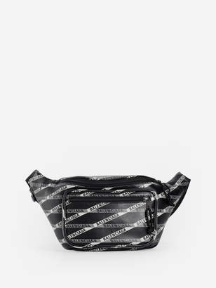 BLACK PRINTED EXPLORER FANNY PACK