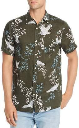 Zee Gee Why Denim Ziggy Zee Party Short-Sleeve Crane-Print Slim Fit Shirt