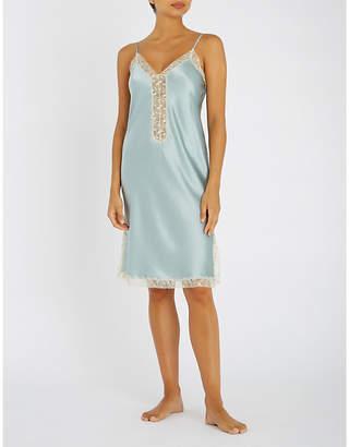 Nk Imode Seductive silk-satin and lace chemise
