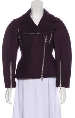 Alexander McQueen Wool Zip-Up Jacket