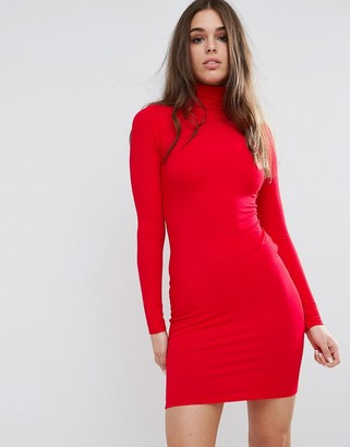 ASOS Bodycon Mini Dress with Turtleneck $23 thestylecure.com