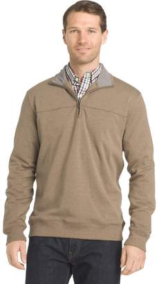 Van Heusen Mens Flex Classic-Fit Stretch Fleece Quarter-Zip Pullover