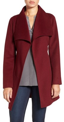 Petite Women's Tahari 'Ella' Belted Double Face Wool Blend Wrap Coat $248 thestylecure.com