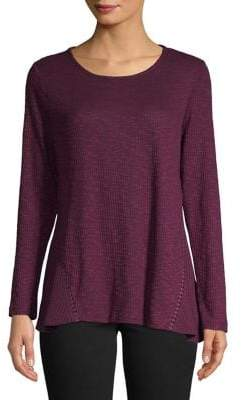 Style&Co. Style & Co. Ribbed Long-Sleeve Top