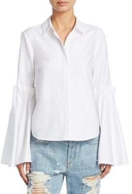 Jonathan Simkhai Bell-Sleeve Cotton Blouse