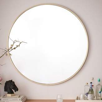 "west elm Metal Framed 48"" Round Mirror"