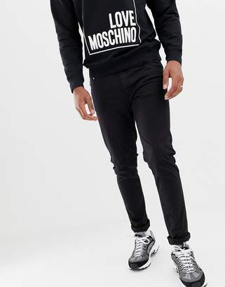 Love Moschino skinny fit jeans with back pocket plaque